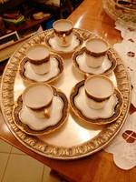 Csodaszép Limoges kávés mokkás szett