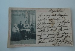 Régi antik képeslap Szász család Nagyszeben Nemzeti összetartozás