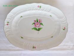 Herendi 38,5cm. rózsaszínű virágos nagy tálaló tál. Hibátlan!