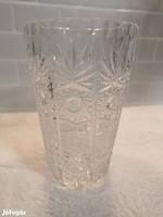 Csiszolt ólomkristály váza