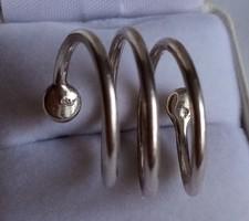 Ezüst gyűrű, egyedi, ötvös művész alkotás