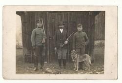 1924 vadászok katona képeslap békebeli hangulatú régi lap