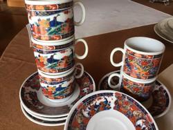 Kínai kávéscsészék tányérral 5 személyes