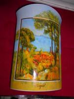 HUMMEL-GOEBEL limitált  porcelán Cezanne festménye alapján tájkép váza- hibátlan  24 cm