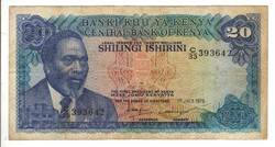 20 shilingi 1978 Kenya