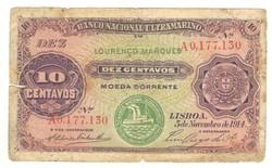 10 centavos 1914 Mozambik 2.