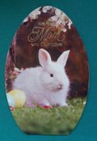 Tojásformájú,amerikai,kinyithatós,húsvéti használt képeslap,1986