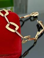 14 karátos két színű arany karkötő