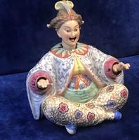 """Porcelán bólogatós fejű keleti """"pagoda"""" figura"""