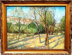 Udvary Pál (1900-1987): Napfényes kert