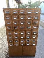 Loft, Industrial 40 Fiókos kartoték szekrény, Komód, kihúzható író asztal lappal