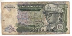 100000 zaires 1992 Zaire