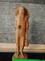 Tibeti szerzetes 23 cm szobor ritkaság