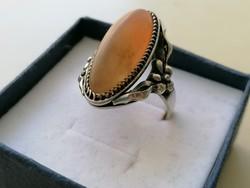 Ezüst 875 ös Orosz ezüst gyűrű achát kővel díszítve