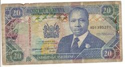 20 shilingi 1993 Kenya