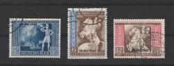 1942 Vienna Postal Congress felülbélyegzett sor