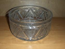 Régi nehéz kristály üveg kínáló tál (afp)