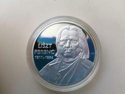 Liszt Ferenc 1811- 1886 ezüstözött emlék érme