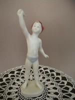 Aquincumi porcelán,integető kisfiú!