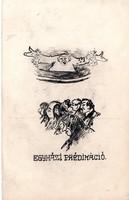 Egyházi prédikáció Szép egyedi, rajzos képeslap!