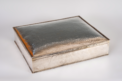 Ezüst nagy méretű art deco fabetétes doboz