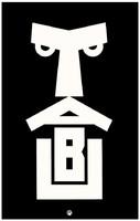 Minimalista plakát reprint nyomat Klinger TABU 1915 cigaretta reklám fekete fehér emberi arc