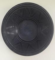 Népművészeti kerámia tányér fekete - átmérő 22,5 cm