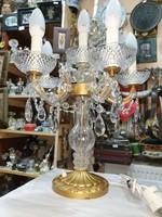 Kristály asztali lámpa