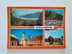 Retro képeslap Duna-kanyar régi levelezőlap