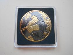 Robin Hood 1 unciás 0.999 ezüst 1.5 euro , ruthéniummal bevonva, aranyozva! 500 db.-ban limitált!