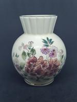 ZSOLNAY Virágos váza 15cm, hibátlan, jelzett porcelán
