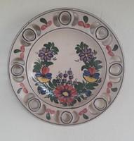 Népművészeti kerámia tányér - átmérő 21,5 cm