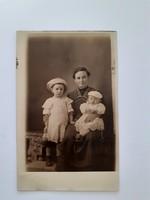Régi családi fotó 1912 műtermi fénykép képeslap