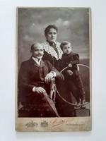 Antik családi fotó 1903 Strelisky Lipót Budapest műtermi fénykép