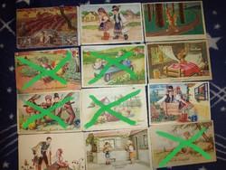 Húsvèti képeslapok az 1900-as èvek elejèről 600 Ft/db