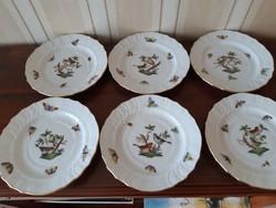 Herendi Rothschild mintás süteményes tányér 6  db