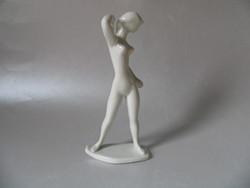 Régi, art deco Drasche figura (18,5 cm)
