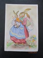 1950-ből régi húsvéti levelezőlap reklámmal a hátán
