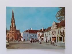 Retro képeslap Kőszeg Köztársaság tér régi levelezőlap