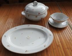 Thun csehszlovák apróvirág mintás étkészlet darabok _ levesestál +  pecsenyéstál +  szószos