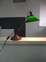 Antik réz bankár bank asztali lámpa