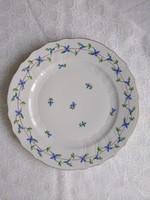 Herendi PBG mintás, kék apróvirágos kézzel festett tányér