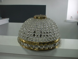 Csillár alsó bura kosaras kristály üveggyöngyökből