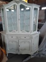 Warrings vitrines tálaloszekrény 160x195x45cm törtfehér szineben