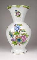 1E381 Viktória mintás Herendi porcelán váza 20.5 cm