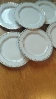 Zsolnay  barokk stafir 6 darab   19 cm tányér