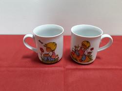 2 db Walbrzych lengyel porcelán gyerek bögre együtt eladó