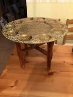 Keleti asztal réz asztallappal