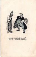 Apai prédikáció Szép egyedi, rajzos képeslap!