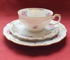 Schirnding Bavaria porcelán reggeliző szett 3 részes (csésze, csészealj, kistányér)